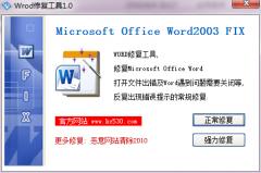 word修复工具 V1.0免安装版|word文件损坏怎么修复