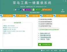 菜鸟工具一键重装系统v1.12中文绿色版