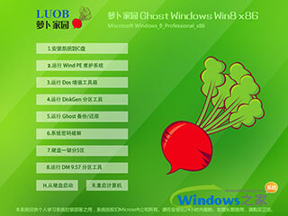 萝卜家园win8 32位系统下载